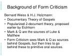 background of form criticism7