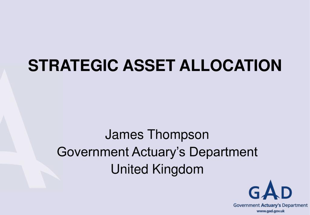 strategic asset allocation l.