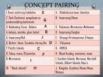 concept pairing