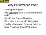 why performance plus