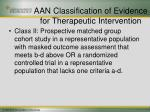 aan classification of evidence for therapeutic intervention20