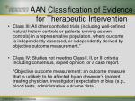 aan classification of evidence for therapeutic intervention21