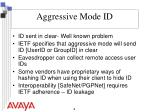 aggressive mode id