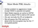 main mode psk attacks