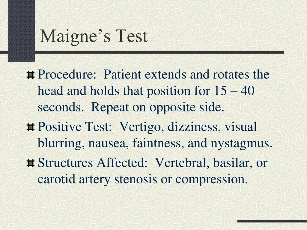 Maigne's Test