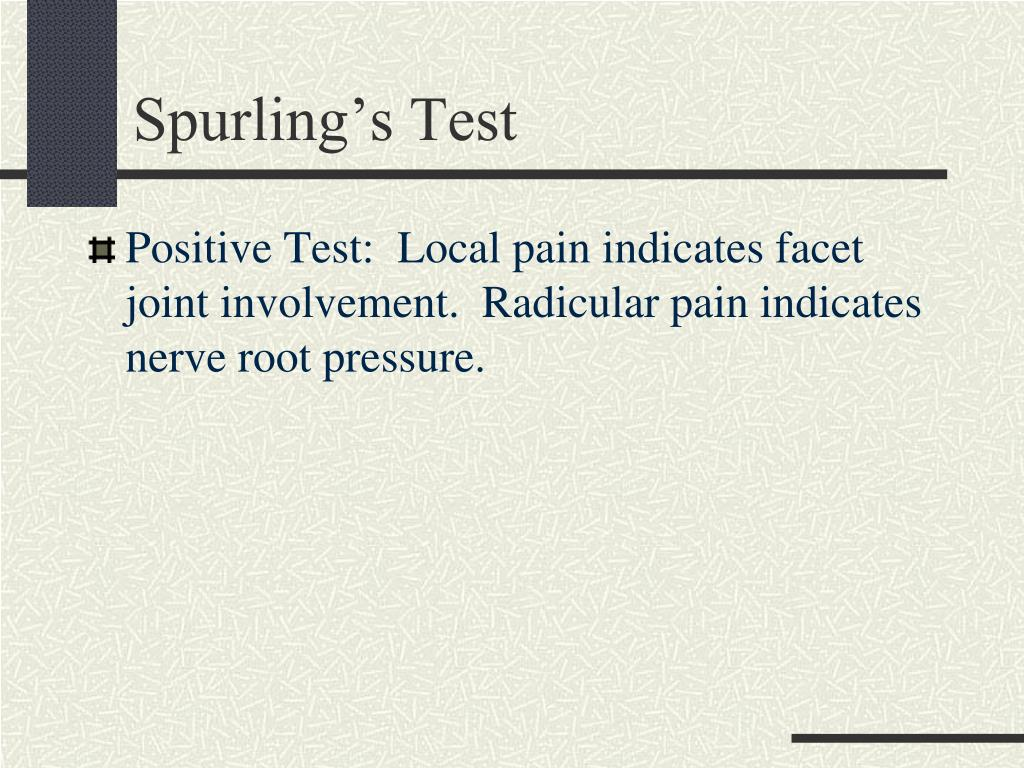 Spurling's Test