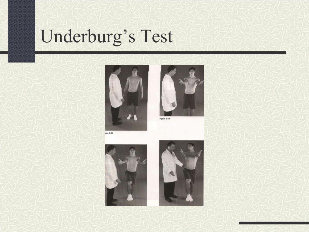 Underburg's Test