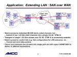 application extending lan san over wan