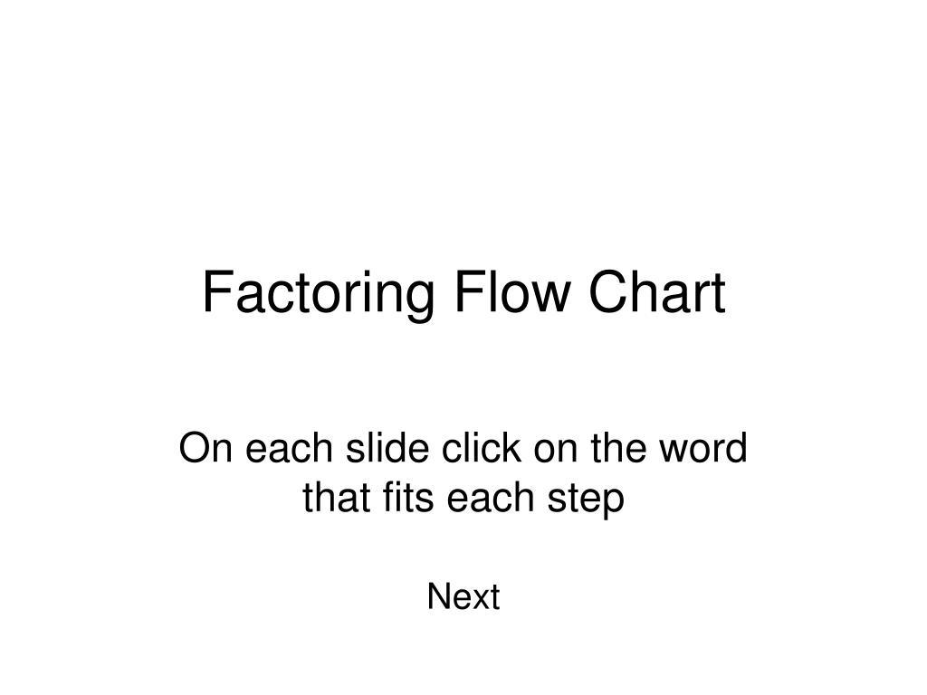 factoring flow chart l.
