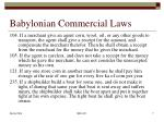 babylonian commercial laws