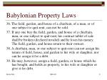 babylonian property laws