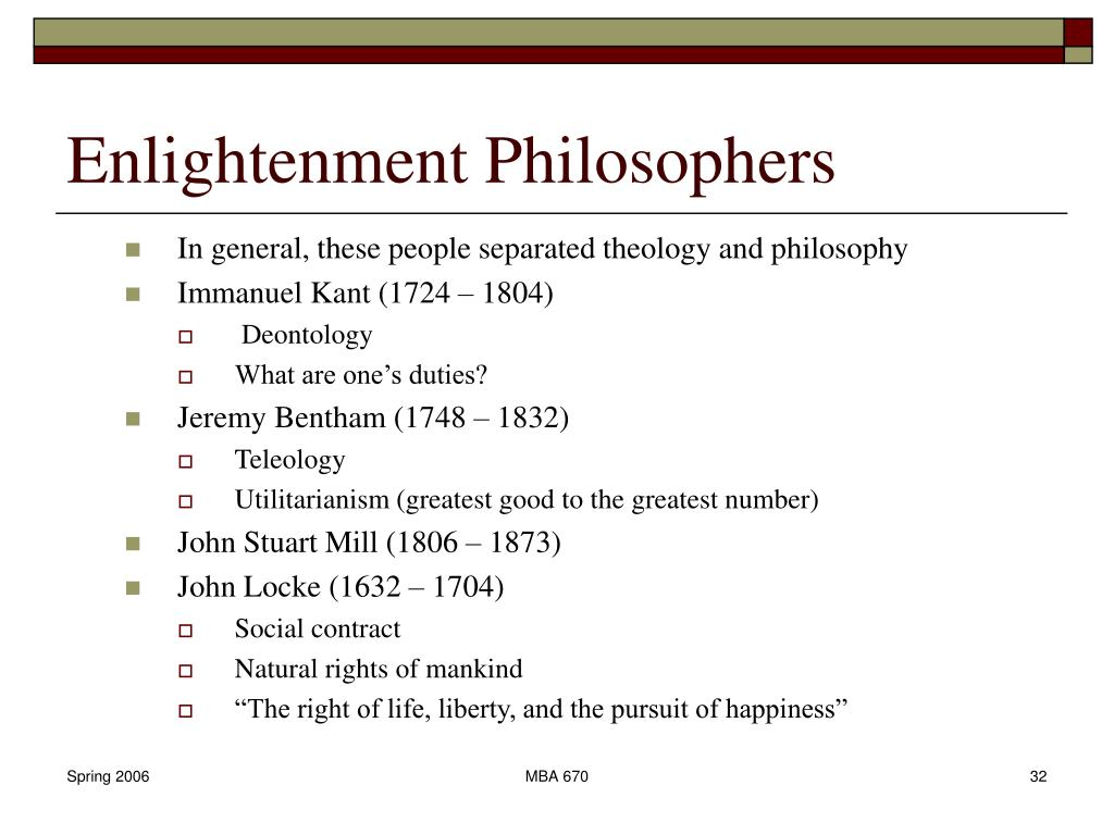 enlightment philosophers