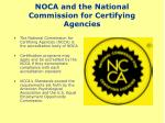 noca and the national commission for certifying agencies