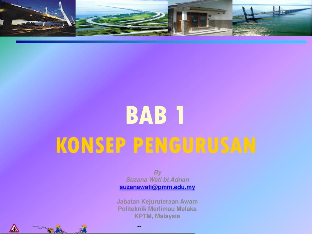 bab 1 konsep pengurusan l.
