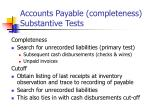 accounts payable completeness substantive tests