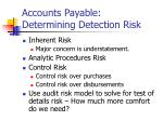 accounts payable determining detection risk