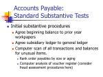 accounts payable standard substantive tests