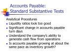 accounts payable standard substantive tests29