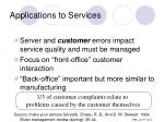 applications to services
