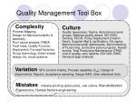 quality management tool box