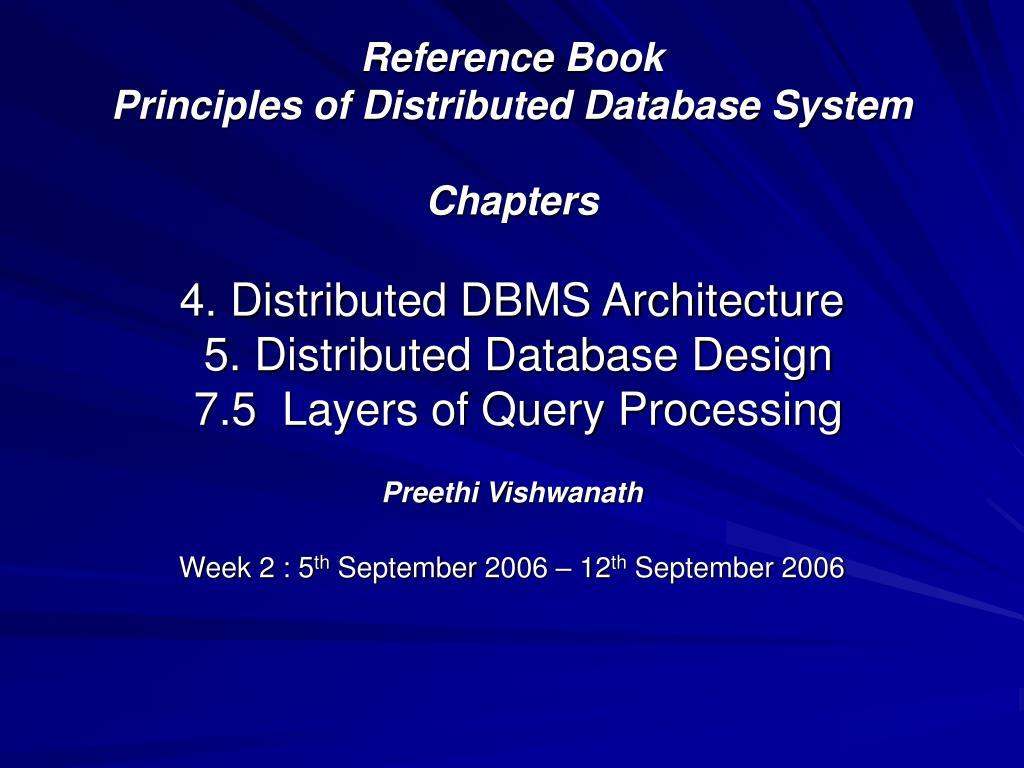 preethi vishwanath week 2 5 th september 2006 12 th september 2006 l.