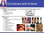 corrosives and irritants