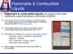 flammable combustible liquids