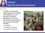 hazard identification assessment