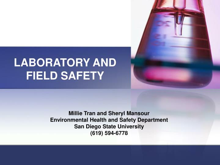 laboratory and field safety n.