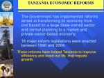 tanzania economic reforms