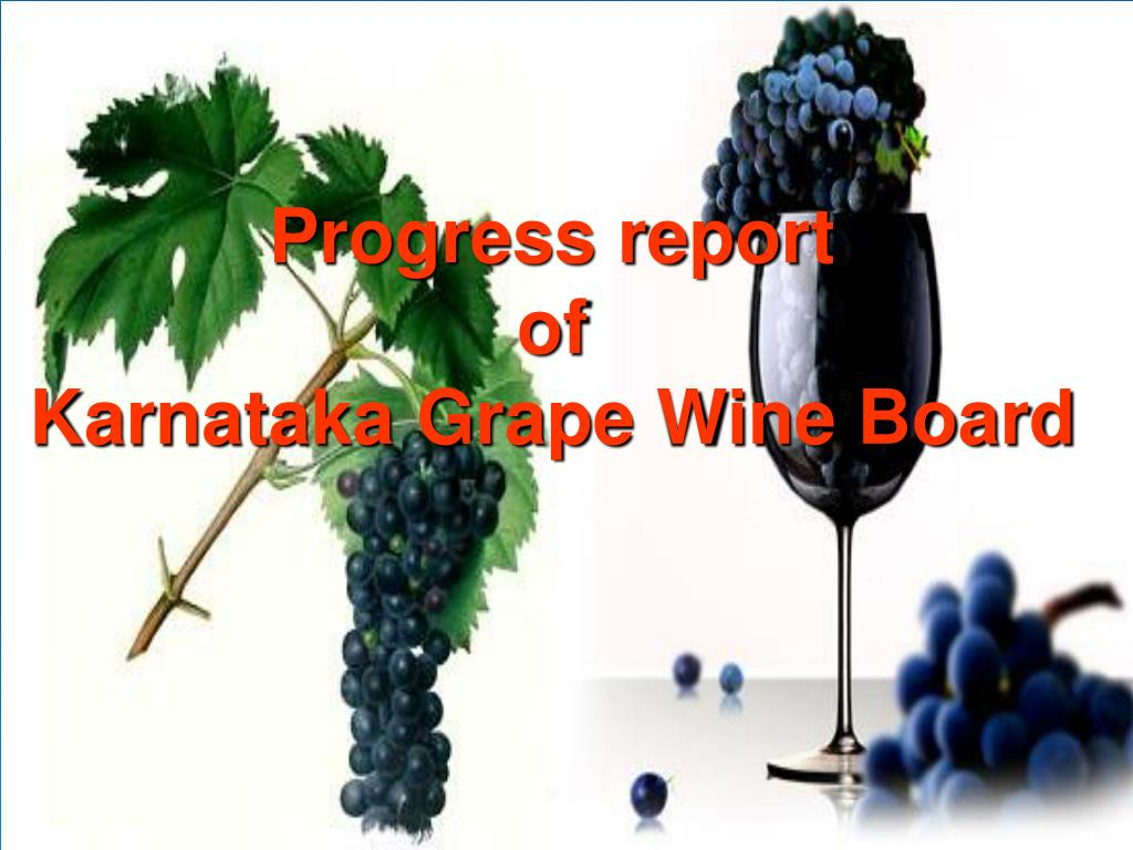 progress report of karnataka grape wine board l.
