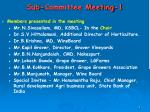 sub committee meeting 19