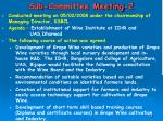 sub committee meeting 2