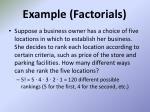 example factorials