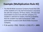 example multiplication rule 2