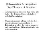 differentiation integration key elements of structure