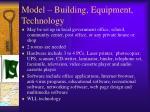 model building equipment technology