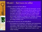 model services to offer