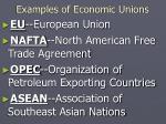 examples of economic unions
