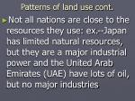 patterns of land use cont