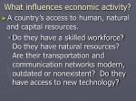 what influences economic activity