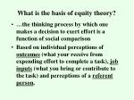 what is the basis of equity theory