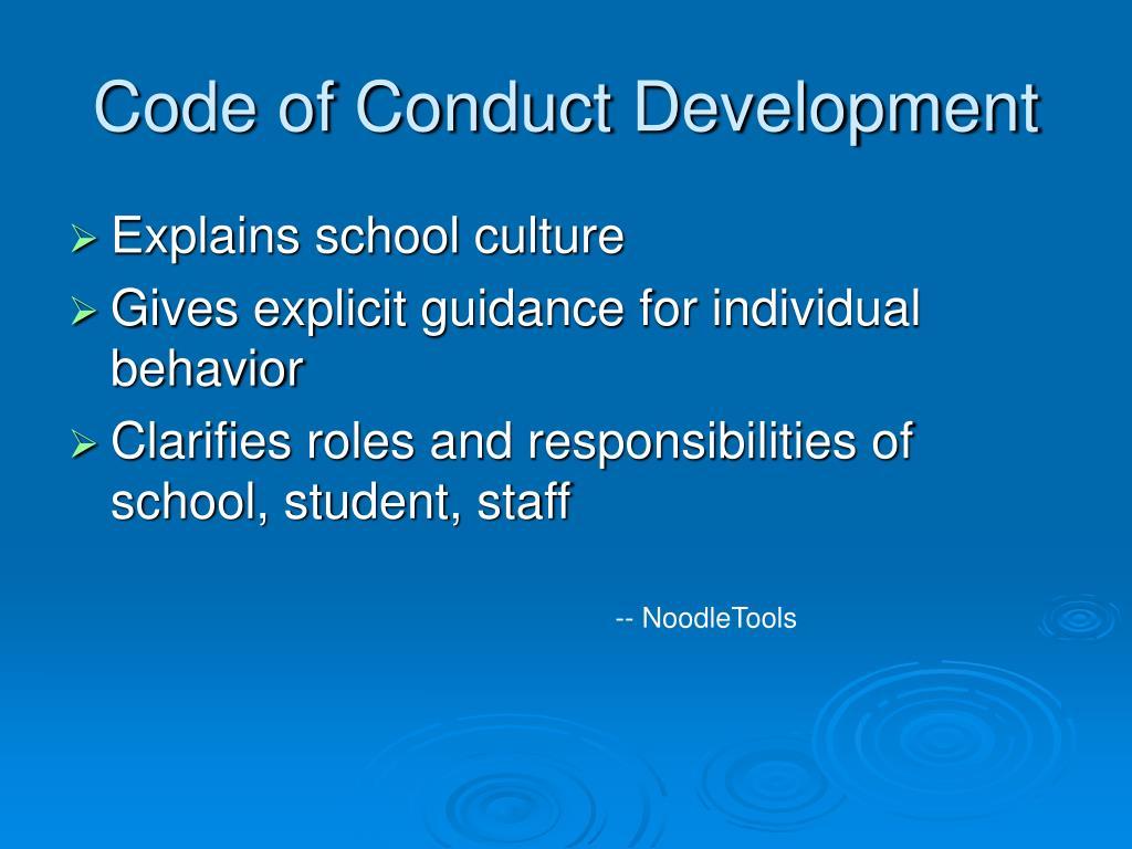 Code of Conduct Development
