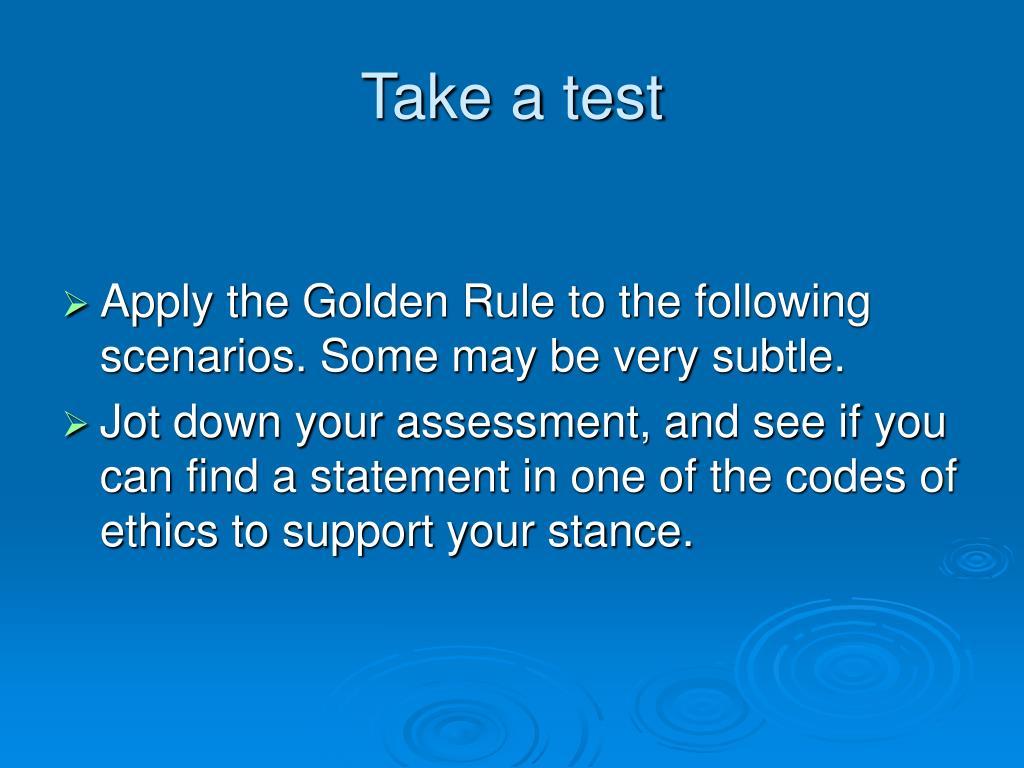 Take a test
