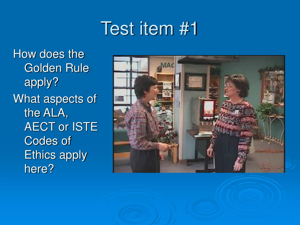 Test item #1