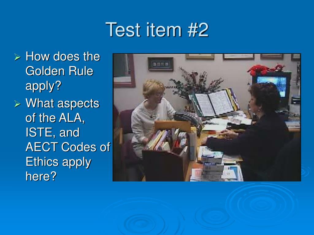 Test item #2