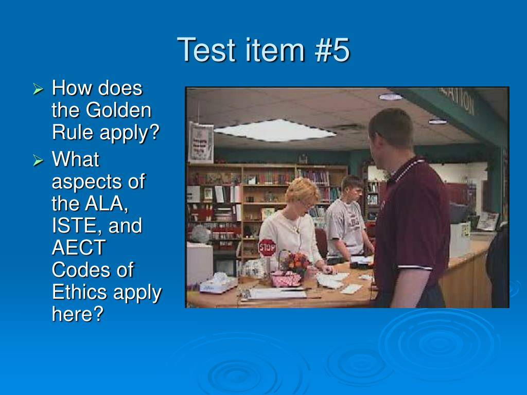 Test item #5
