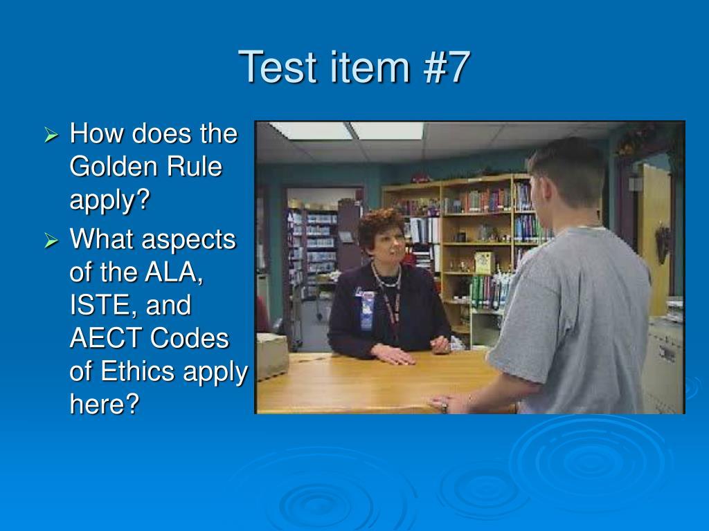 Test item #7