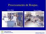 processamento de roupas