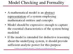 model checking and formality40
